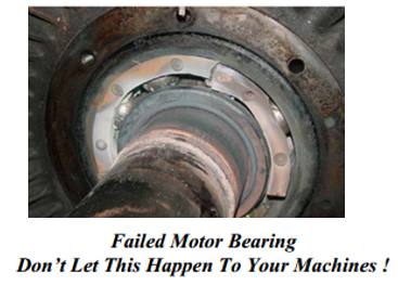 Failed Motor Bearing